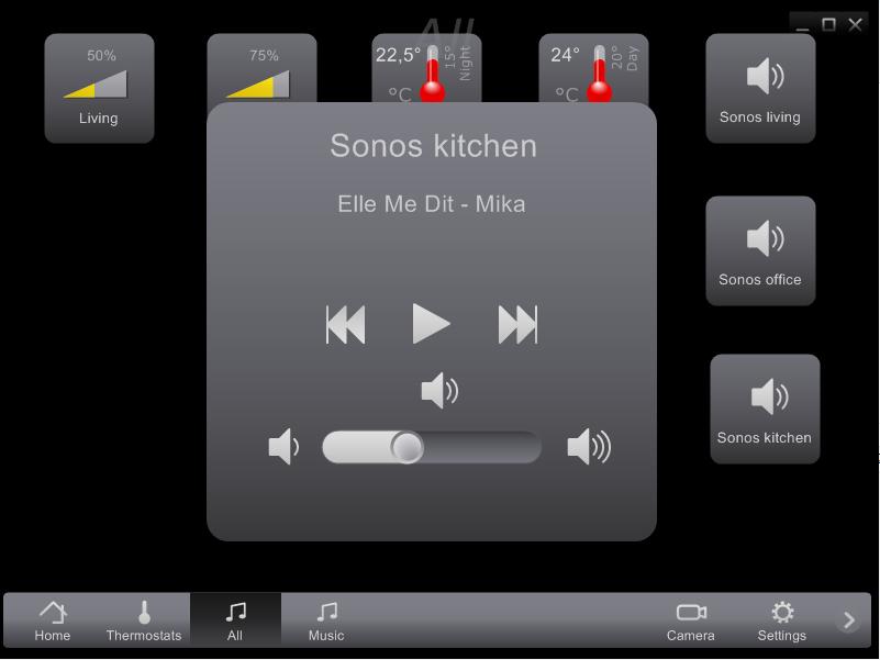 Sonos in Home center